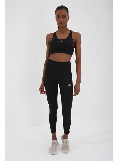 Tommy Life Siyah Kadın Çapraz Sırt Detaylı Slim Fit U Yaka Spor Büstiyer - 97121 Siyah